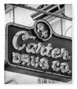 Carter Drug Co - Bw Fleece Blanket