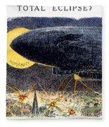 Cartoon: Airship Raid 1914 Fleece Blanket