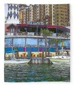 Cartoon Boats Fleece Blanket