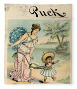Cartoon: Cuba, 1902 Fleece Blanket