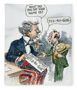 Cartoon: New Deal, 1935 Fleece Blanket