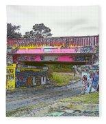 Cartoon Street Art Fleece Blanket