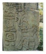 Carved Danzantes Stone Fleece Blanket