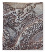 Carved Dragon Fleece Blanket