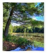 Cary Lake In August Fleece Blanket