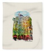 Casa Batllo Barcelona Fleece Blanket