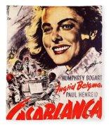 Casablanca B Fleece Blanket
