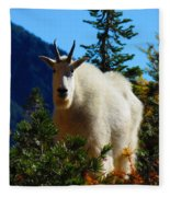 Cascade Range Mountain Goat Fleece Blanket