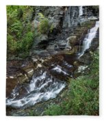 Cascadilla Falls Creek Gorge Trail Giant's Staircase Fleece Blanket