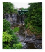 Cascadilla Gorge Cornell University Ithaca New York 01 Fleece Blanket