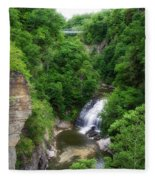 Cascadilla Waterfalls Cornell University Ithaca New York 01 Fleece Blanket