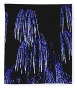 Cascading Fireworks Fleece Blanket
