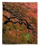 Cascading Japanese Maple Fleece Blanket