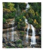 Cascading Skagway Waterfall  Fleece Blanket