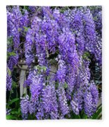 Cascading Wisteria 2 Fleece Blanket