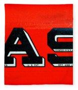 Case Tractor Nameplate Fleece Blanket