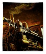 Casey Jones And The Cannonball Express Fleece Blanket