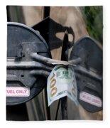Cash In Truck Fuel Tank Fill Spout Fleece Blanket