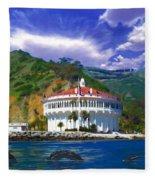 Casino From The Water Fleece Blanket