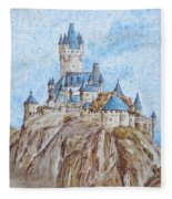 Castle On The River Rhine Fleece Blanket