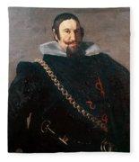 Caspar De Guzman Count Of Olivares Diego Rodriguez De Silva Y Velazquez Fleece Blanket