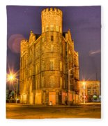 Cass Castle Detroit Mi Fleece Blanket