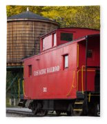 Cass Railroad Caboose Fleece Blanket