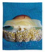 Cassiopeia Jellyfish Abstract Fleece Blanket