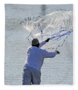 Cast Net Fleece Blanket