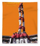 Castellers De Catalunya Fleece Blanket