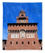 Castello Sforzesco Tower Fleece Blanket