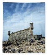 Castelo Do Queijo Old Fort Landmark In Porto Portugal Fleece Blanket