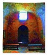 Castillo De San Marcos Chapel Fleece Blanket