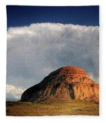 Castle Butte In Big Muddy Valley Of Saskatchewan Fleece Blanket