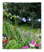Castle Garden In Germany Fleece Blanket