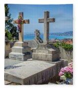 Castle Hill Graves Overlooking Nice, France Fleece Blanket