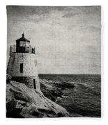 Castle Hill In Black And White Fleece Blanket