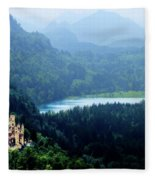 Castle Hohenschwangau 2 Fleece Blanket
