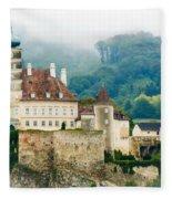 Castle In The Mist Fleece Blanket
