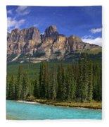 Castle Mountain Banff The Canadian Rockies Fleece Blanket