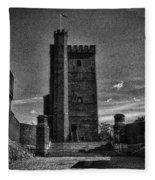 Castle Of Helsingborg Fleece Blanket