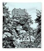 Castle Ruin Flossenbuerg Fleece Blanket