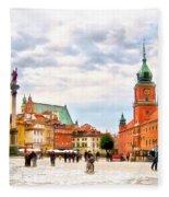 Castle Square, Warsaw Fleece Blanket