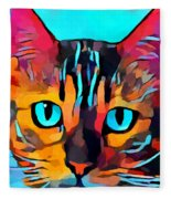 Cat 10 Fleece Blanket