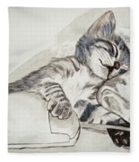 Cat And Mouse Fleece Blanket