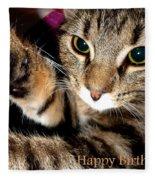 Cat Card Fleece Blanket