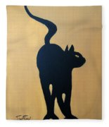 Cat Dance..... Optical Illusion Fleece Blanket