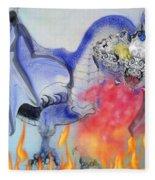 Cat Dragon Fleece Blanket