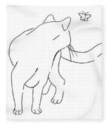 Cat-drawings-black-white-2 Fleece Blanket
