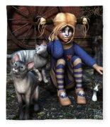 Cat Girl Fleece Blanket